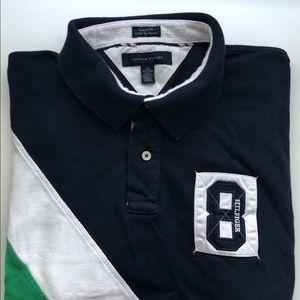 Tommy Hilfiger Men's Blue White Green Polo  SZ XXL